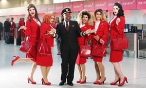 Virgin Atlantic's Pride flight.