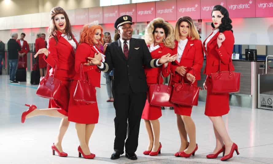 Virgin Atlantic's Pride flight.