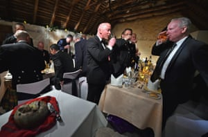 Members of the public attend the Burns supper