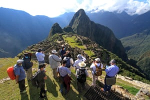Machu Picchu, Peru, Members of a commission of authorities and experts visit Machu Picchu