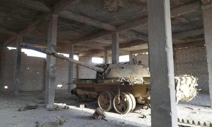 Tank in Isis factory