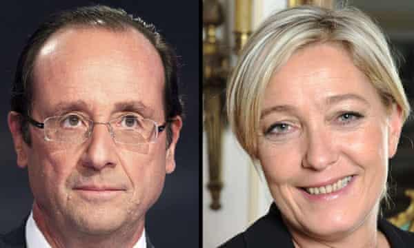 Hollande and Le Pen