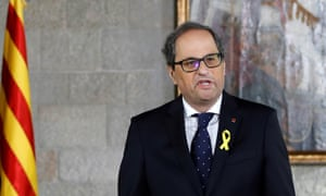 Quim Torra sworn in as Catalan president amid xenophobia claims
