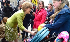 Nicola Sturgeon campaigning in the Edinburgh West constituency