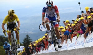 Julian Alaphilippe and Thibaut Pinot
