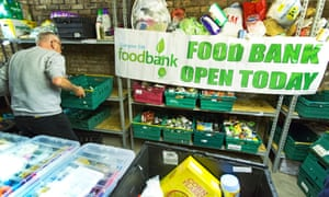 A food bank in Scotland