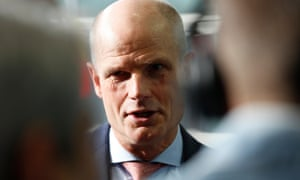 Dutch Foreign Minister Stef Blok speaks to media as he arrives for the Foreign Affairs Council in Luxembourg.