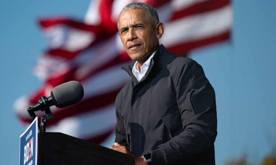 'My hope is that the tides will turn. But that does require each of us to understand that this experiment in democracy is not self-executing,' Obama said.