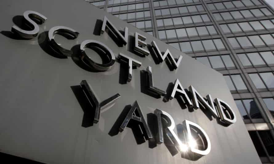 Sign outside New Scotland Yard