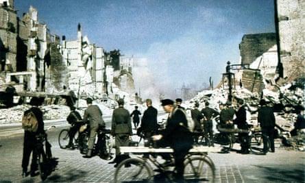 A manmade firestorm … Hamburg in September 1943, a few months after Operation Gomorrah.