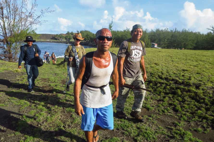 Gus Castro, who considers Pagan to be his home, leads an expedition around the island.