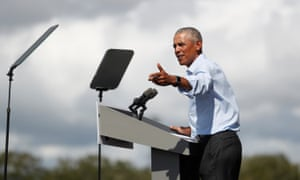 Barack Obama in Orlando, Florida, on 27 October.