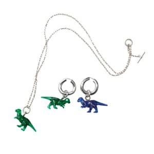 Dinosaur jewellery from Céline