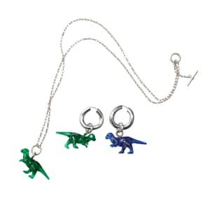 Dinosaur jewellery from Céline