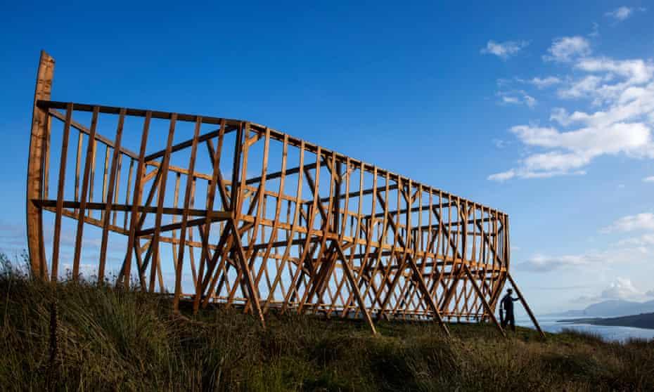 David Blair and the ark sculpture
