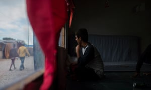 A child in the Calais refugee camp. 'When the police started beating us, a lot of the underage boys stopped trying to go illegally. They don't care if you are a child or a grownup.'