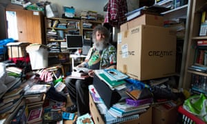 David Woods from Edinburgh, who has had issues with hoarding and clutter.