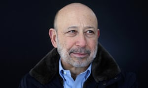 Blankfein said the current upbeat mood reminded him of the optimism that preceded the global financial crisis of 2007-8.