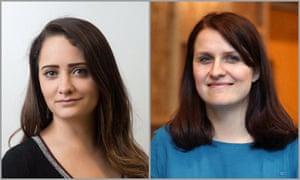 Headshots of Megan Gubler and Sarah Drinkwater