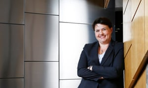 Ruth Davidson at the Scottish parliament at Holyrood, Edinburgh: 'Yes I want to be first minister. Isn't that outlandish?'
