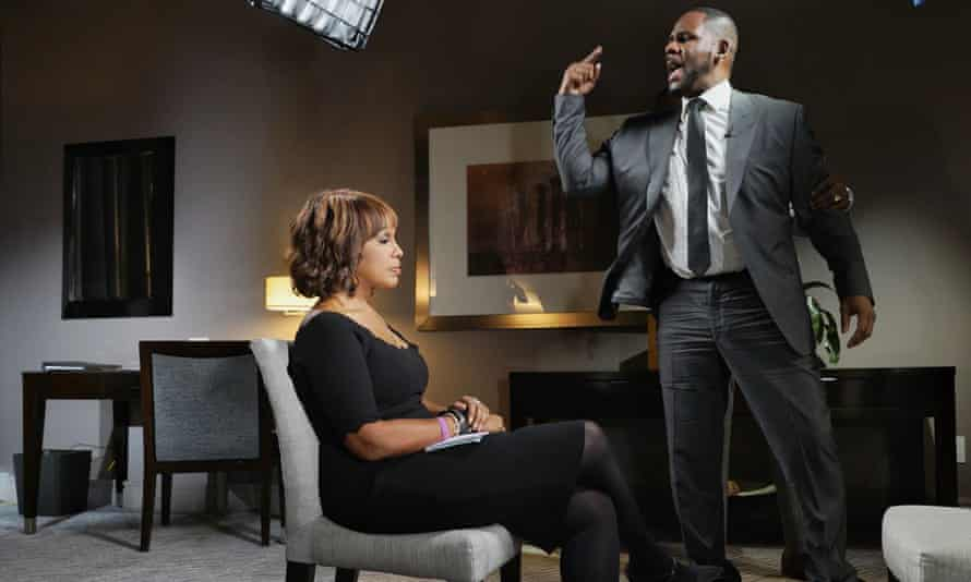 R Kelly rages at the seated and serene TV presenter Gayle King. It's inconceivable that he would have behaved in the same way towards a man.