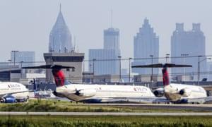 Parked Delta jets