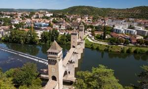 France, Lot, Bas Quercy, Cahors, XIVth century Valentre bridge
