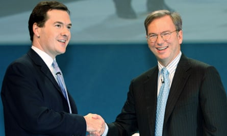 George Osborne with Google's chief executive, Eric Schmidt, in 2006