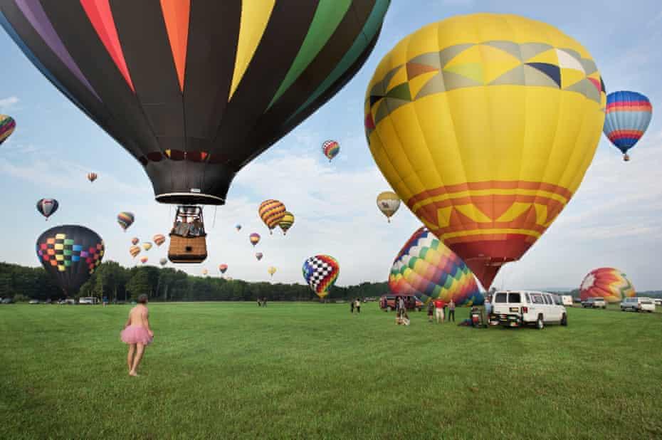hot air balloons man tutu