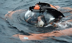 It may not be riding topless on horseback or darting an endangered tiger – but the submersible journey should still impress Putin's followers