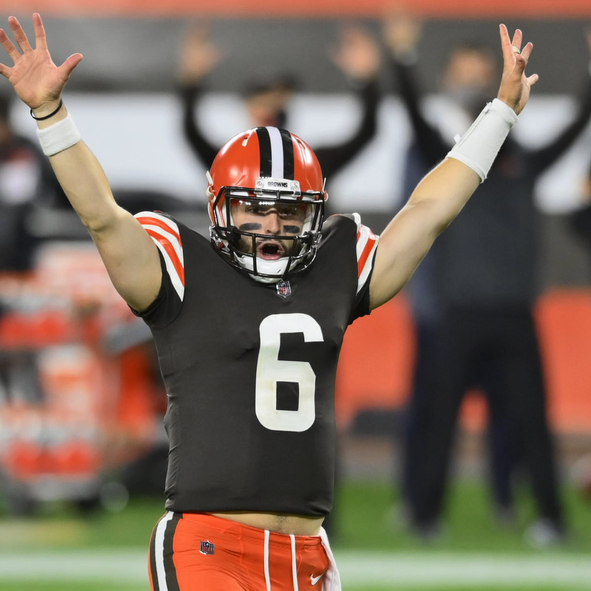 Baker Mayfield Throws Two Tds As Browns Hold Off Joe Burrow S Bengals Nfl The Guardian
