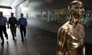Portrait of a Young Man Standing on display in the McLaren Technology Centre. Woking, 2007.