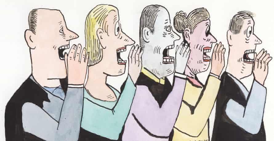 Illustration people whispering