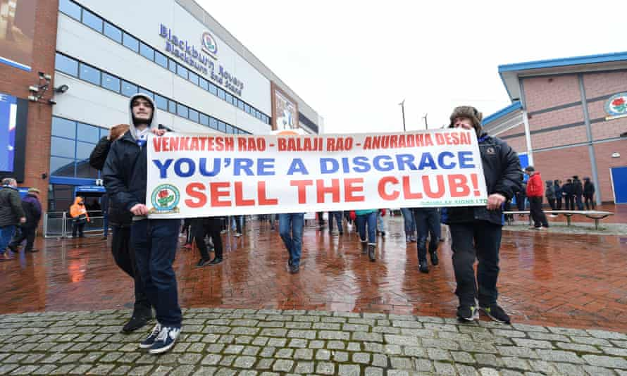 Blackburn supporters protested against the club's owners, Venky's, at the recent match with Blackpool but their voices have fallen on deaf ears.