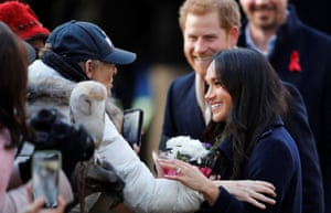 The prince and Markle greet wellwishers