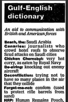 Guardian article from 18 February 1991