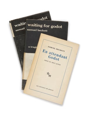 Three first editions of Waiting for Godot. In 1988, Robin starred in a production of the play directed by Mike Nichols and also starring Steve Martin and F Murray Abraham