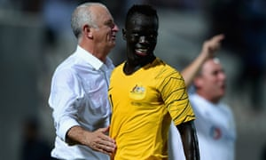 Awer Mabil (centre)