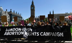 A protest against the DUP, which opposes legalised abortion in Northern Ireland.