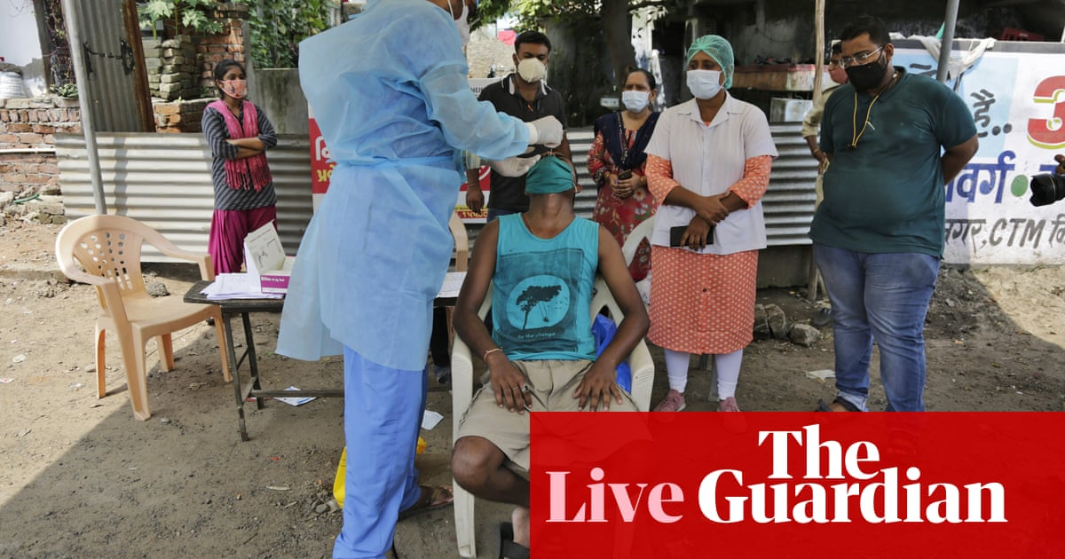 Coronavirus live news: India becomes second worst-hit nation with one-day record of over 90000 cases – The Guardian