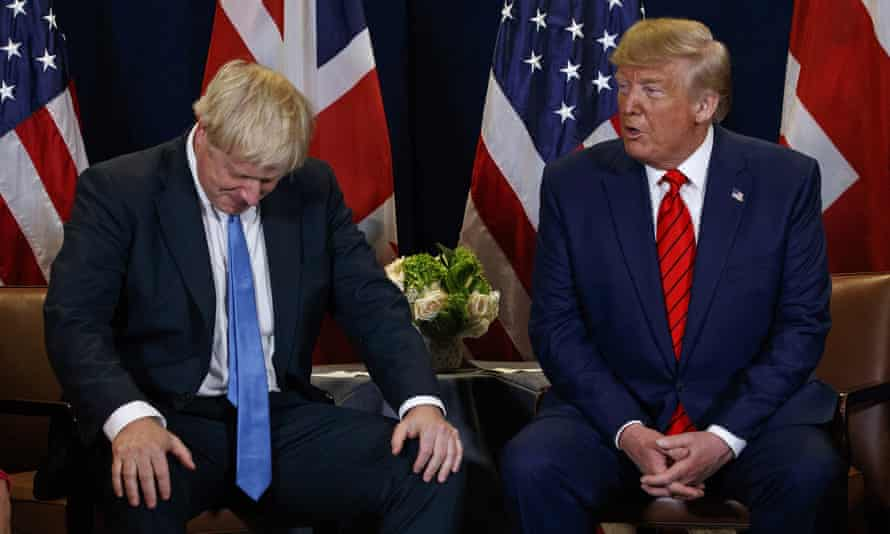 Boris Johnson and Donald Trump at the UN general assembly in New York, September 2019