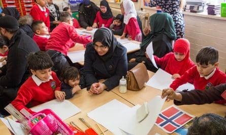 Parents join pupils at Parkfield community school in Birmingham