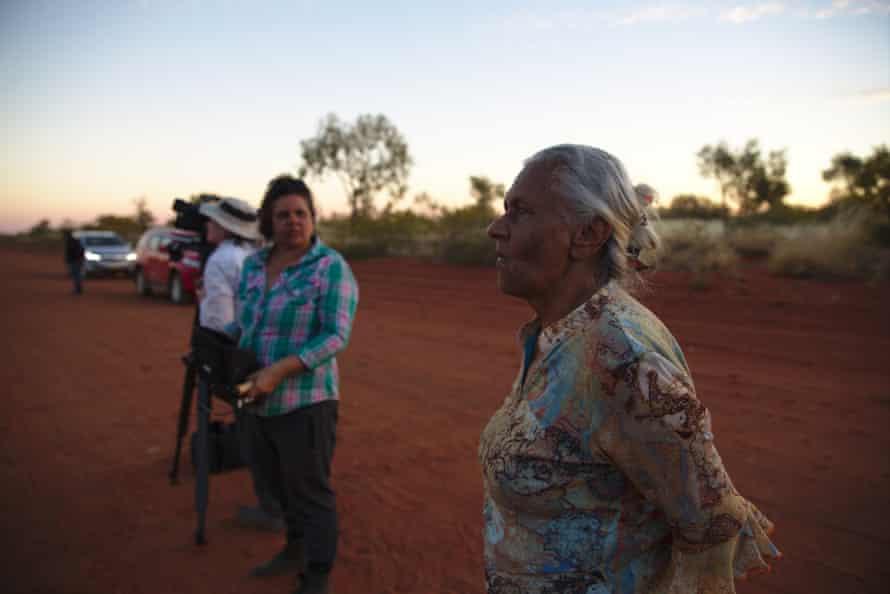 Freda Glynn on set of the Australian documentary She Who Must Be Loved by Erica Glynn