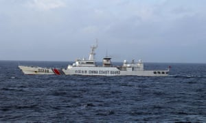 Chinese coastguard ship near the Senkaku islands  in the East China Sea