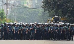 Police in Dhaka.