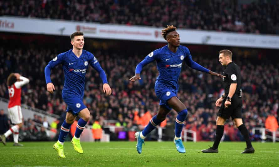 Tammy Abraham celebrates after scoring an 87th minute winner