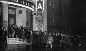 A queue outside the Brixton Astoria, December 1930.