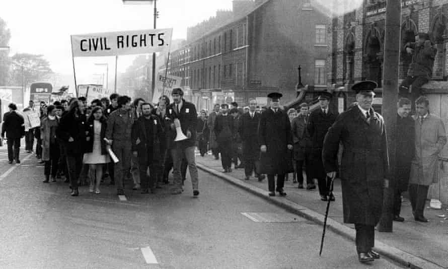 A civil rights demonstration in Northern Ireland, 1968. Photograph: Rex/Shutterstock