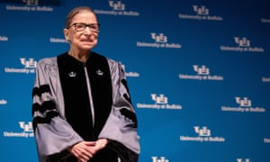 Ruth Bader Ginsburg receives an honorary degree at the Buffalo school of law on Monday.