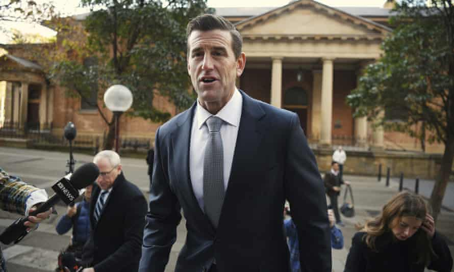 Ben Roberts-Smith arrives at the Federal Court.